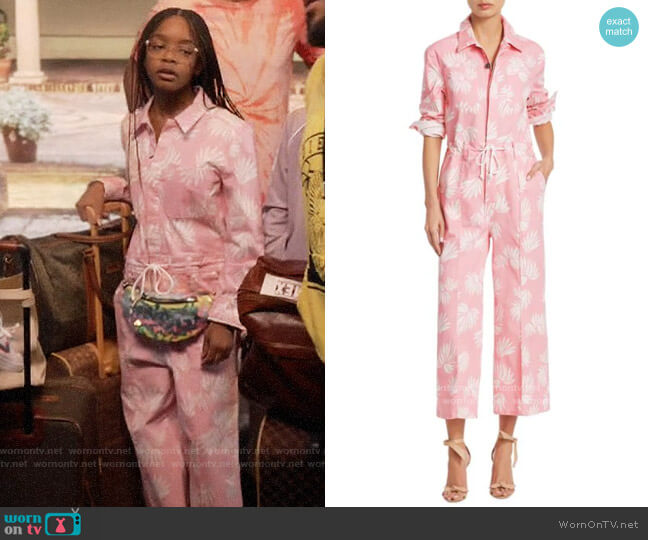 Cinq a Sept Jubilee Jumpsuit worn by Diane Johnson (Marsai Martin) on Blackish