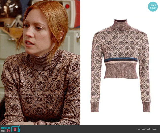 Cinq a Sept Weston Sweater worn by Julia Bechley (Brittany Snow) on Almost Family