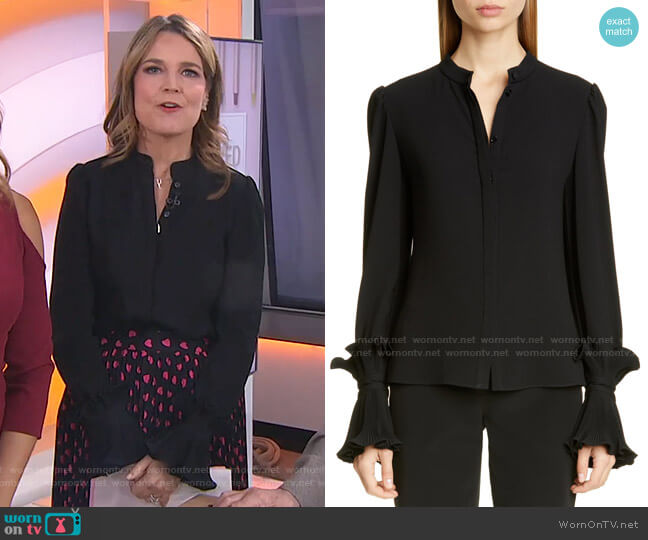 Essentials Ruffle Cuff Blouse by Co worn by Savannah Guthrie  on Today