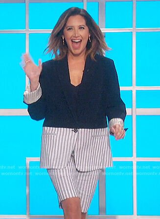 Ashley Tisdale's colorblock suit on The Talk