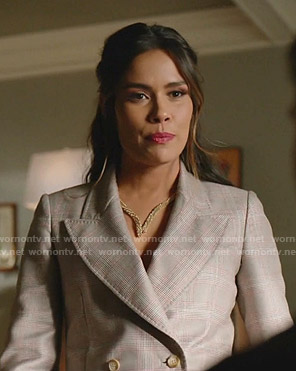 Cristal's grey plaid blazer on Dynasty