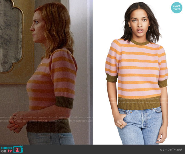 Demy Lee Myrtle Sweater worn by Julia Bechley (Brittany Snow) on Almost Family