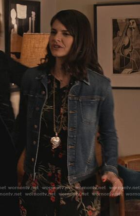 Allison's denim jacket on Grace and Frankie