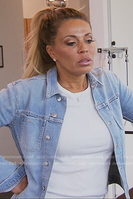 Dolores's denim jacket on The Real Housewives of New Jersey