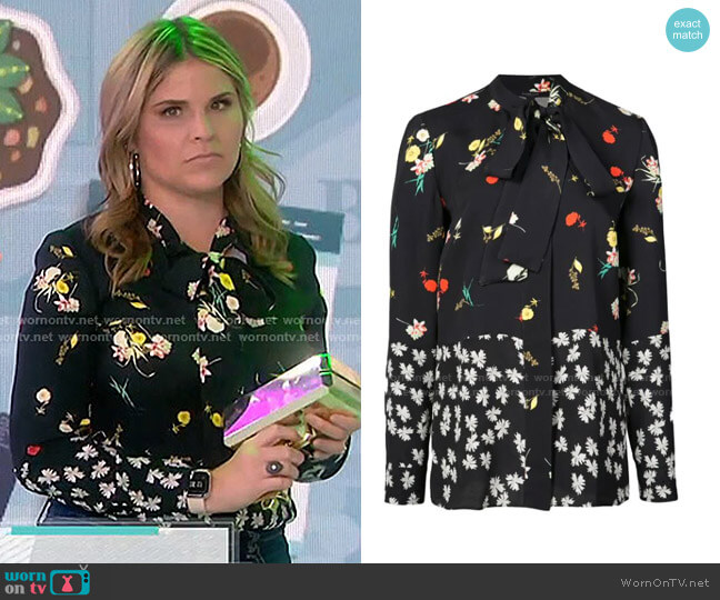 Floral Print Blouse by Derek Lam worn by Jenna Bush Hager  on Today