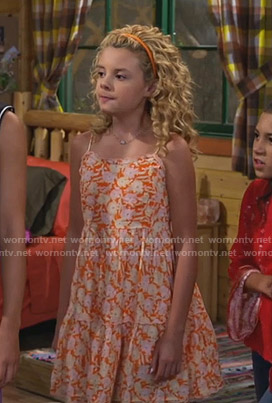 Destiny's orange floral dress on Bunkd