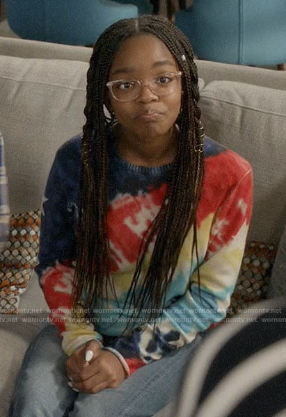 Diane's tie dye sweater with stars on Black-ish