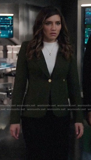 Dinah's dark green blazer on Arrow