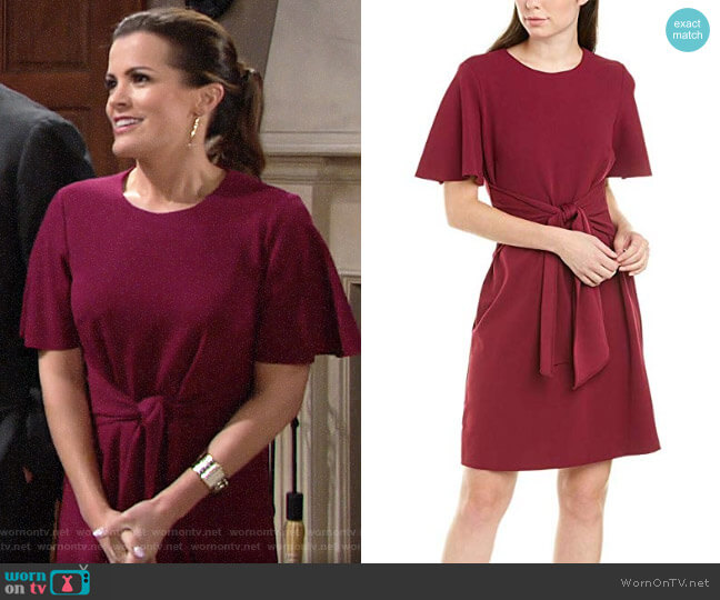 Donna Morgan Tie Front Dress worn by Chelsea Lawson (Melissa Claire Egan) on The Young & the Restless
