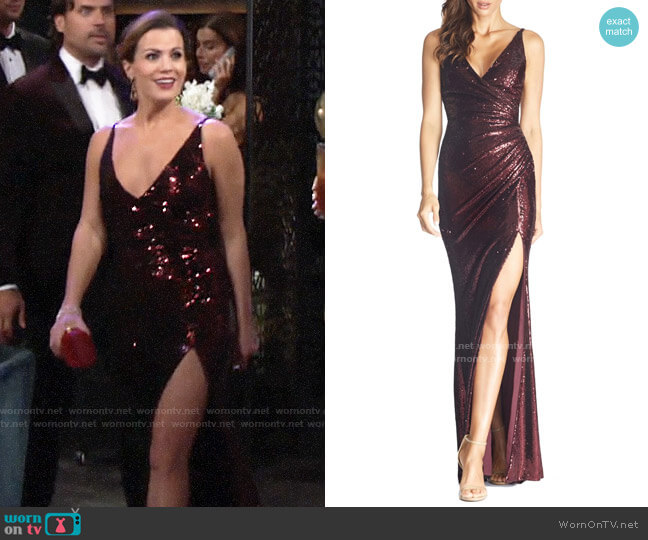 Dress the Population Jordan Dress worn by Chelsea Lawson (Melissa Claire Egan) on The Young & the Restless
