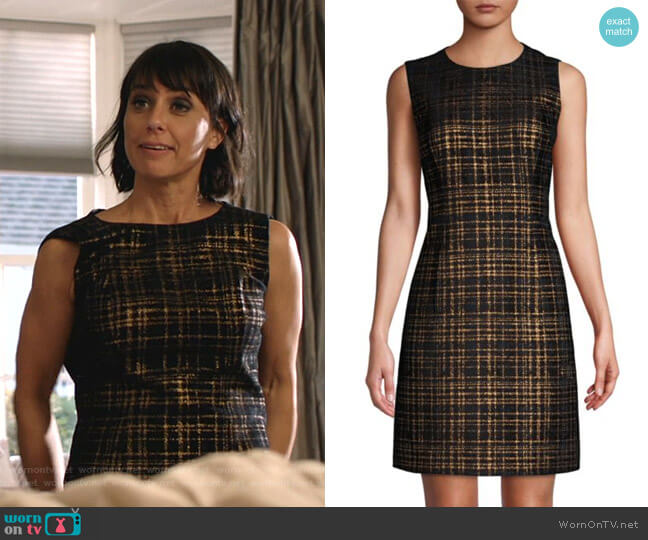 Jaelyn Tweed Mini A-Line Dress by Elie Tahari worn by Constance Zimmer on Shameless