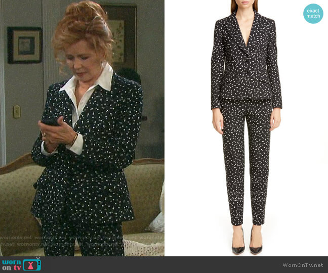 Emporio Armani Dotted Blazer worn by Maggie Horton (Suzanne Rogers) on Days of our Lives