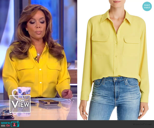 Signature Button-Down Shirt by Equipment worn by Sunny Hostin  on The View
