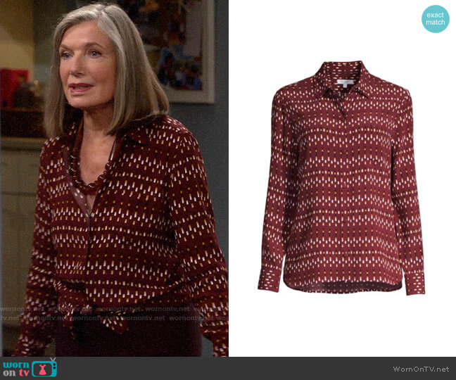 Equipment Leema Shirt worn by Bonnie (Susan Sullivan) on Last Man Standing