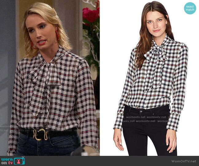 Equipment Luis Blouse worn by Mandy Baxter (Molly McCook) on Last Man Standing