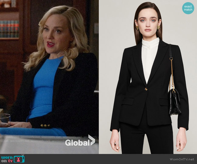 Escada Milano Jersey Blazer worn by Marissa Morgan (Geneva Carr) on Bull