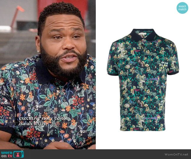 Etro Floral Polo Shirt worn by Andre Johnson (Anthony Anderson) on Blackish