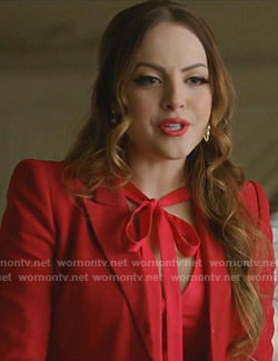 Fallon's red blazer on Dynasty