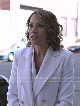 Julie's black overalls and plaid blazer on Shameless