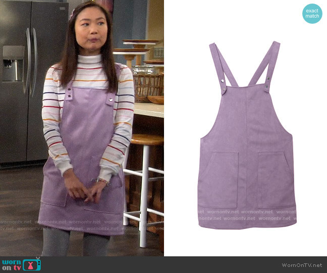 Forever 21 Pinafore Dress worn by Jen (Krista Marie Yu) on Last Man Standing