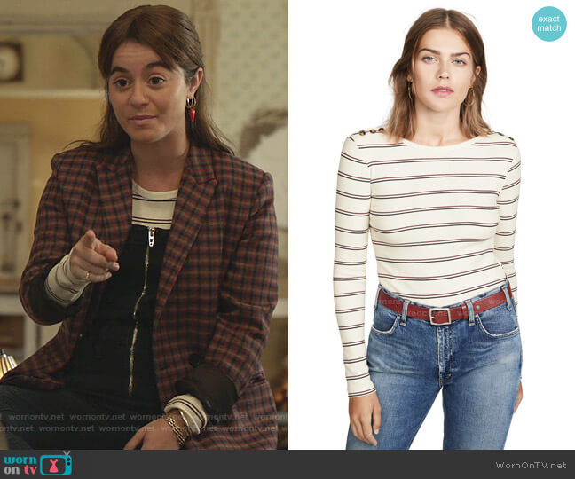 Edie Button Crew Tee by Frame worn by Alison Jaye on Shameless