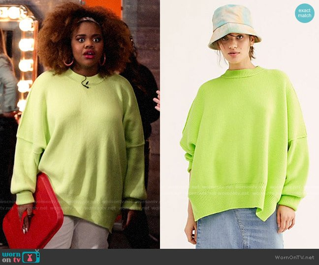 Free People Bright Lime Easy Street Tunic worn by Kourtney (Dara Renee) on High School Musical The Musical The Series