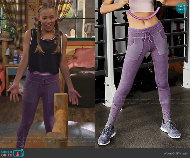 Kyoto High-Rise Ankle Legging by Free People worn by Ava (Shelby Simmons) on Bunkd