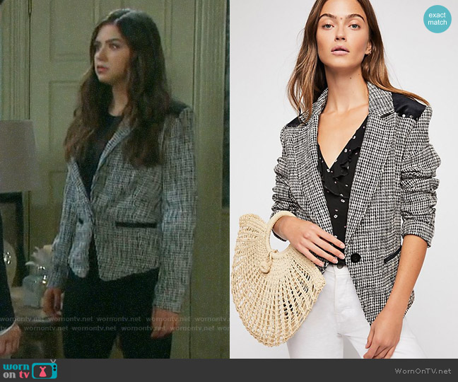 Free People Rodeo Blazer worn by Ciara Brady (Victoria Konefal) on Days of our Lives