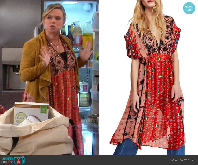 Free People Smiling Sun Dress worn by Kristin Baxter (Amanda Fuller) on Last Man Standing