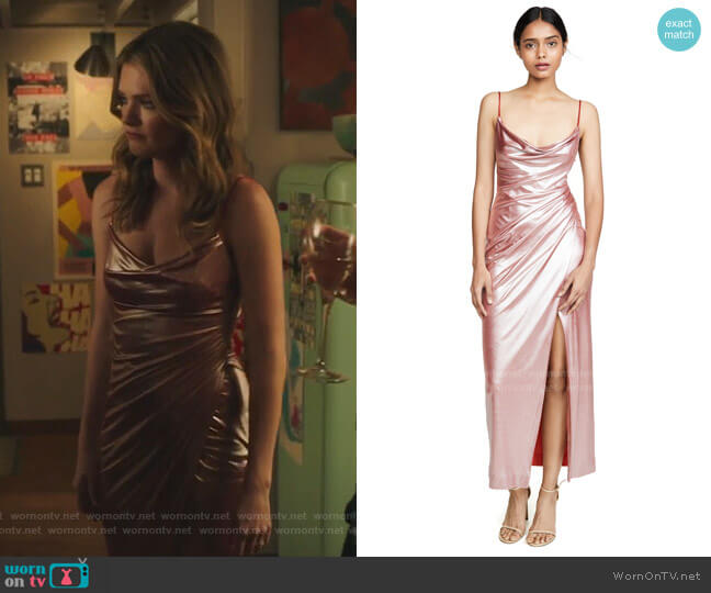 Mars Dress by Galvan London worn by Sutton (Meghann Fahy) on The Bold Type