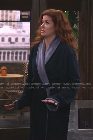 Grace's navy bathrobe on Will and Grace