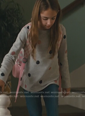 Anna's gray sweater on American Housewife