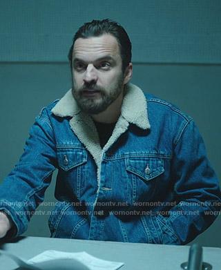 Grey's shearling denim jacket on Stumptown