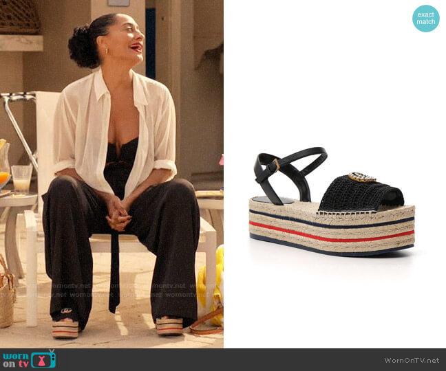 Gucci Platform Espadrille Sandals worn by Rainbow Johnson (Tracee Ellis Ross) on Blackish