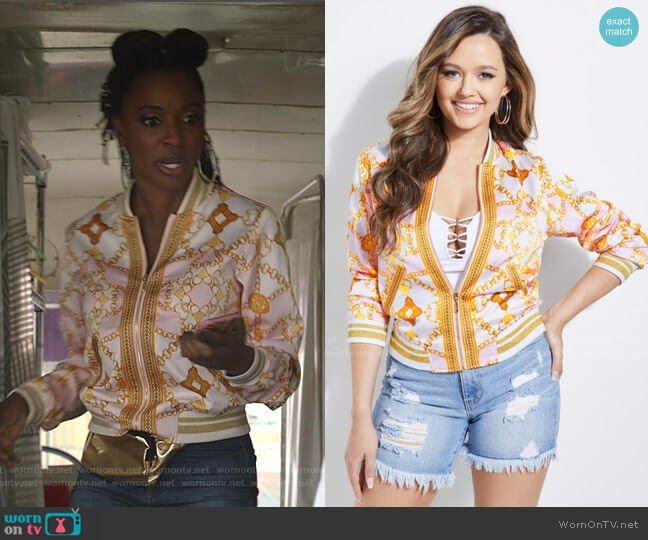Rae Jacket by Guess worn by Veronica Fisher (Shanola Hampton) on Shameless