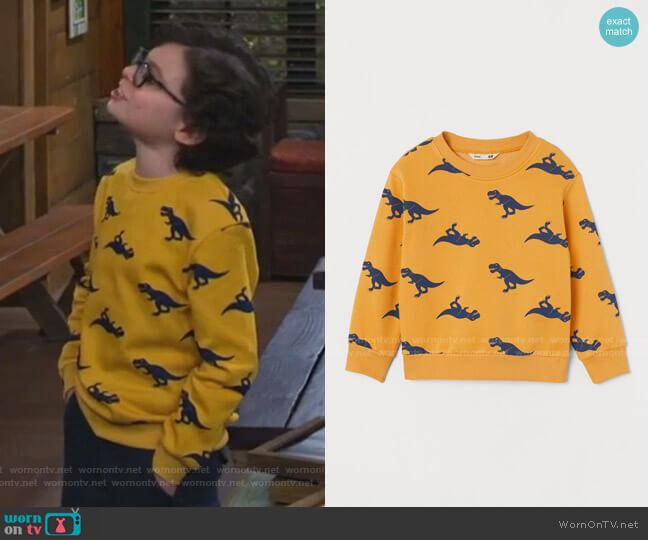 Dinosaurs Sweatshirt by H&M worn by Matteo Silva (Raphael Alejandro) on Bunkd
