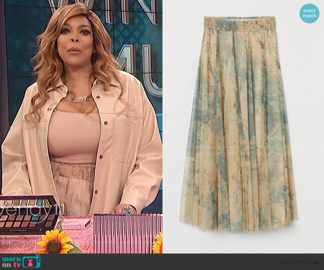 Tulle Circle Skirt by H&M worn by Wendy Williams  on The Wendy Williams Show