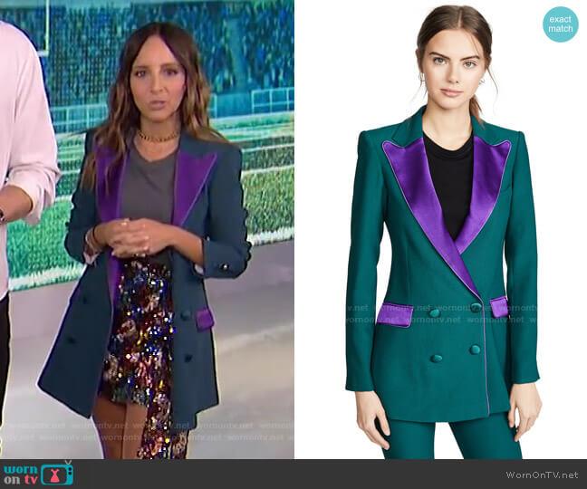 Bianca Blazer by Hebe Studio worn by Lilliana Vazquez  on E! News