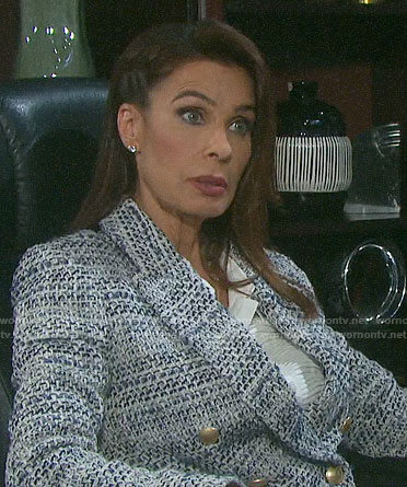 Hope's tweed double-breasted blazer on Days of our Lives