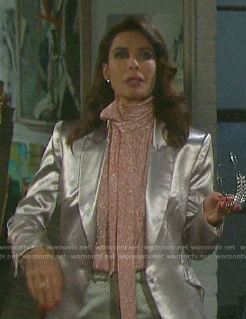 Hope's metallic blazer on Days of our Lives
