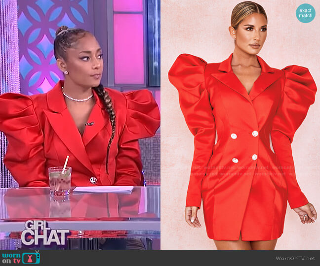 Esther Tux Dress by House of CB worn by Amanda Seales  on The Real