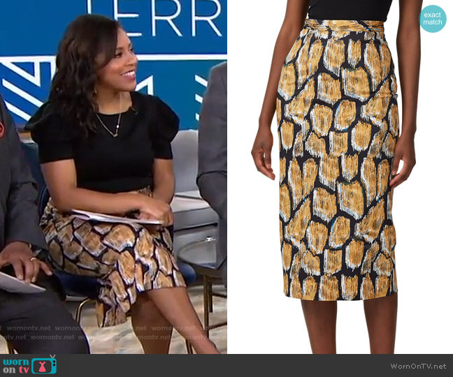 Taylor Skirt by Hunter Bell worn by Sheinelle Jones  on Today