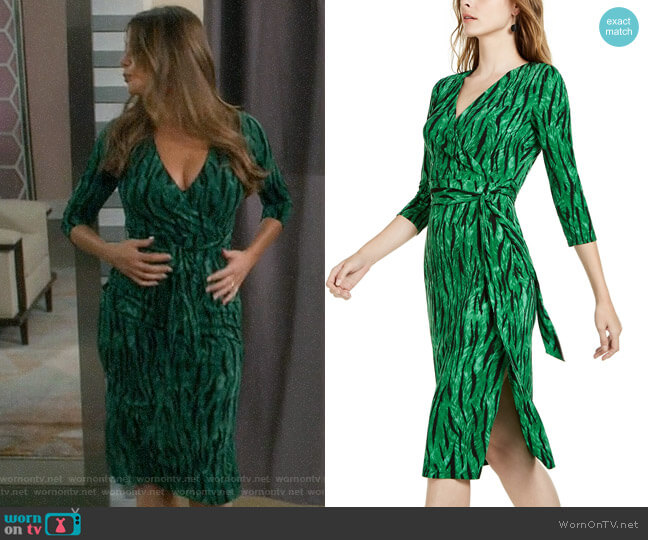 INC International Concepts Side-Tie Faux-Wrap Dress worn by  Gloria Pritchett (Sofia Vergara) on Modern Family