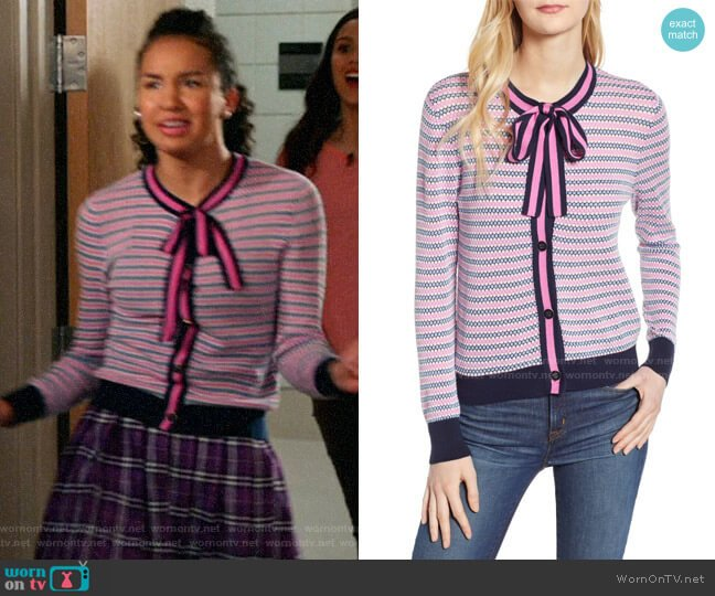 J. Crew Lady Cardigan worn by Gina (Sofia Wylie) on High School Musical The Musical The Series
