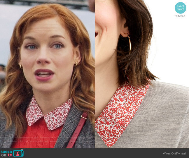 J. Crew Tippi Liberty Print Collar Sweater worn by Zoey Clarke (Jane Levy) on Zoeys Extraordinary Playlist