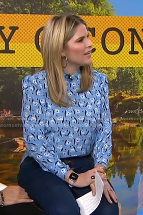 Jenna's blue floral blouse on Today