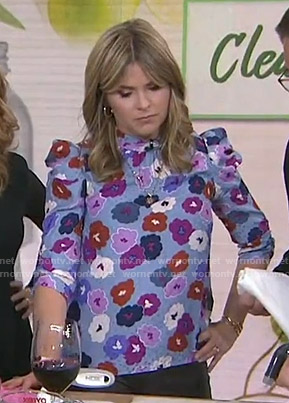 Jenna's blue floral top on Today