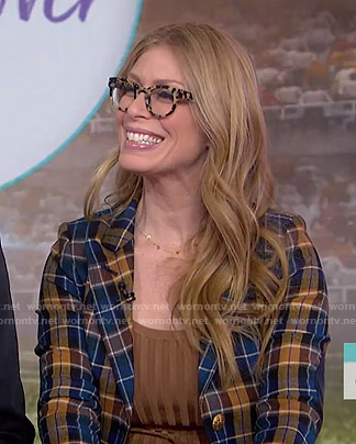 Jill's blue and orange plaid blazer on Today