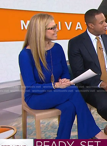 Jill's blue jumpsuit on Today