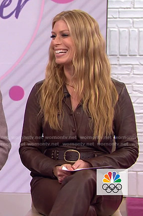 Jill's brown leather jumpsuit on Today